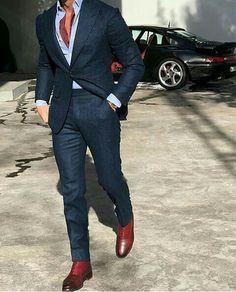 mens suits Mix and Match -- CLICK Visit link above for more options Der Gentleman, Gentleman Style, Mens Fashion Suits, Mens Suits, Navy Suits, Groom Suits, Suit Men, Groom Attire, Man Stuff