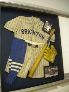 Baseball uniform Shadow Box. #Art #Framing