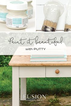 Putty by Fusion Mineral Paint! A sophisticated neutral that blends beige and grey and grounds any colour scheme. Beige Paint, Gray Chalk Paint, Paint Furniture, Furniture Refinishing, Furniture Projects, Antique Furniture, Color Of The Week, Favorite Paint Colors, Wall Colors