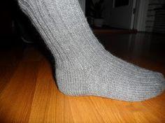 Hjemmelaget: Sokker med gammaldags hælfelling. ( oppskrift)