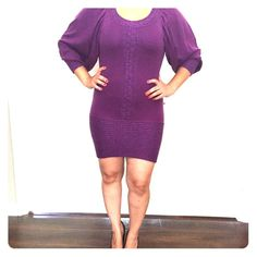 Bebe sweater dress Bebe size S. Fit is very tight if you are a medium but will fit. In great condition. bebe Dresses