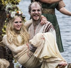 Helga is the devoted lover-turned-wife of Floki. After several years together, Floki proposes marriage after he learns that Helga is carrying his child. Helga is often seen with Floki, an eccentric boat builder who is also one of Ragnar's closest friends. The two are lovers, though they are not in a committed relationship and will invite others to join them in bed. Nevertheless, the two seem fairly stable and have genuine affection for each other.