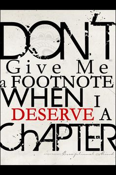 Maybe I deserve more than one.....