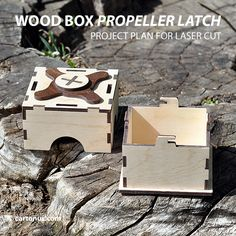 Our new invention: Propeller latch on wood boxes. Construction turned out to be an unusual kind. Propeller latch perfectly keeps lid on box.