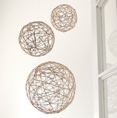 Made These DIY Twine Orbs (Use for birds nests too)