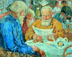 Morning news, 1950s Porfiry Lebedev born 1883, Russia died 1976 more: NB Gallery Google pictures