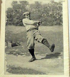 Golfer Picture Vintage 1904