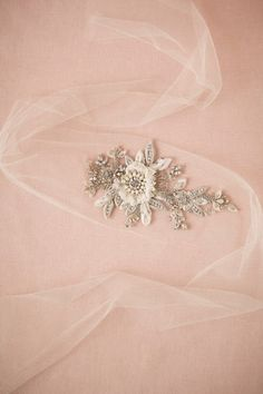 """Floret Tulle Sash from @BHLDN - wear it with """"Livia"""" gown"""