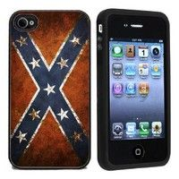 Amazon.com: IP4 Confederate Rebel Flag iPhone 4 or 4s Case / Cover Verizon or At: Cell Phones & Accessories