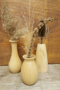 Set of 3 Weed Pots, Stick Pot, Twig Pot, Flower Vase