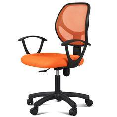 Amazon.com : Yaheetech Adjustable Swivel Computer Desk Chair Orange : Office Products