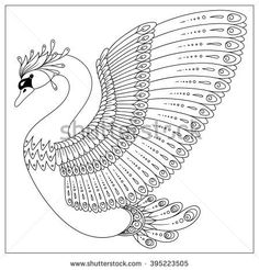 stock-vector-drawing-zentangle-swan-for-coloring-page-shirt-design-effect-logo-tattoo-and-decoration-395223505.jpg 450×470 pixels