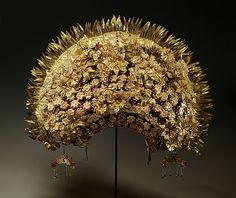 1960s Minangkabau crown for a bride; Sumatra