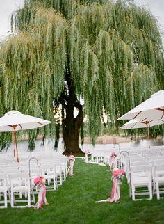 Gal Meets Boy || A Beautiful Lodi Wedding » Silvana Difranco. Love weeping willow trees