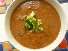 Bean Soup with Avocado #MeatlessMonday