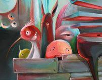 paintings 2012 by Philip Bosmans, via Behance