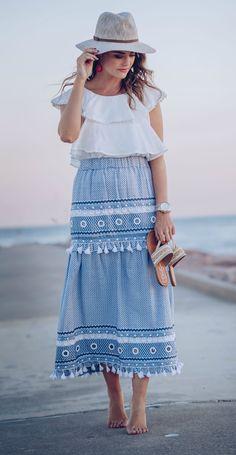 a beach ready embellished skirt via The Styled Fox.