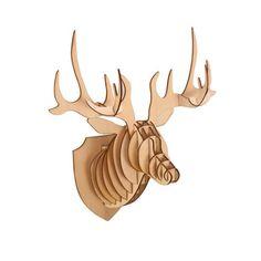 3D Wood Deer Head By Celebrate It - BestProducts.com