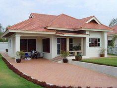 modern asian house exterior designs one storey - G My House Plans, House Layout Plans, House Layouts, Village House Design, House Front Design, Modern House Design, Indian Home Design, Kerala House Design, Modern Bungalow House