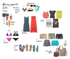 """""""Disney World 2014 packing list"""" by caiticat ❤ liked on Polyvore featuring Fat Face, Neon Rose, Asics, adidas, American Eagle Outfitters, Lija, See by Chloé, Yumi, Hollister Co. and River Island"""