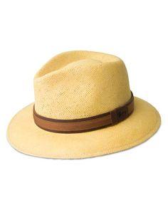 Bailey of Hollywood Joad Turn Down Brim Hat  | Toyolene litestraw | Made in USA | Two-tone band with signature logo | Turn down brim | Web ID:1609898