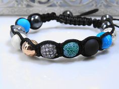 Your place to buy and sell all things handmade Handmade Bracelets, Beaded Bracelets, Agate Beads, Metal Beads, Turquoise Beads, How To Make Beads, Fashion Bracelets, Jewelery, Bangles
