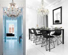 White Canvas Decoration @Luann Lang #DiningRoom #Decor #Black #White http://homedecoratingideas4all.com/home-decorating-ideas/white-canvas-decoration-265