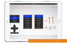 Crestron iPad design for Ascend Studios HQ in Orlando FL.   #AscendStudios, www.AscendStudios.com