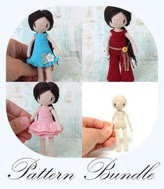 Crochet Doll Pattern Amigurumi Doll PDF von PinkMouseBoutique
