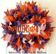 Clemson Wreath