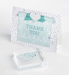 Don't forget to say Thank You this holiday season! Stamp images are from the Letterpress Winter stamp set.