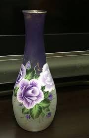 Resultado de imagen de pintando malmequeres em garrafão