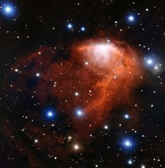 This richly coloured cloud of gas called RCW 34 is a site of star formation in the southern constellation of Vela (The Sails). This image was taken using the FORS instrument on ESO's Very Large Telescope in northern Chile.