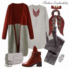 Visit our website for more on 2020 newest female clothing models. Hijab Casual, Hijab Chic, Hijab Outfit, Islamic Fashion, Muslim Fashion, Modest Fashion, Mode Outfits, Fall Outfits, Fashion Outfits