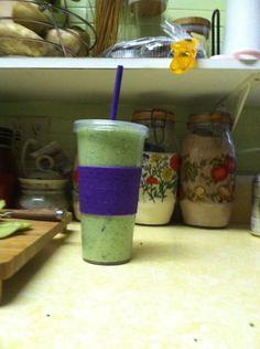 Erika's Green Goblin Smoothie - so good with kiwi, kale, spinach!