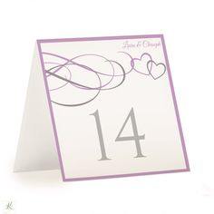 Table Number Template  Nadine  Tent Light Blush  Coral  Pink