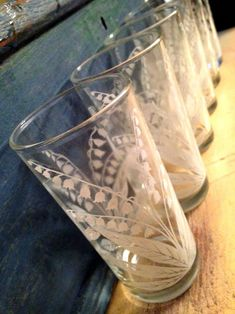 Lily Of The Valley drinking glasses @Renee McPherson These look like something you would like.