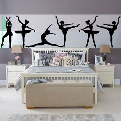 Ballet Wall Decals | BALLERINA Wall Art Decals for school, home GORGEOUS BALLERINA Wall ...