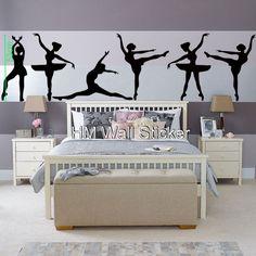 Ballet Wall Decals | BALLERINA Wall Art Decals for school, home GORGEOUS BALLERINA Wall ...