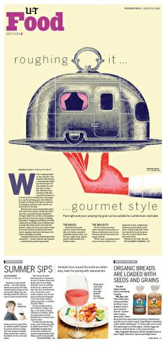 roughing it ... gourmet style #Newspaper #GraphicDesign #Layout