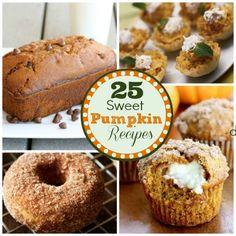 25 Sweet Pumpkin Dessert Recipes #pumpkin #dessert #recipes