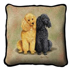 Poodle Dogs Duo Pillow