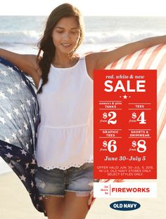 Fourth of July sale at Old Navy happening through July 8!