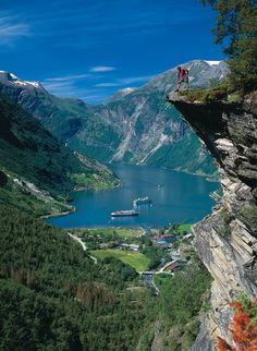 Perfect training ground for the Extreme Norseman Triathlon. Geiranger fjord, Norway http://www.swimbikerundiary.com