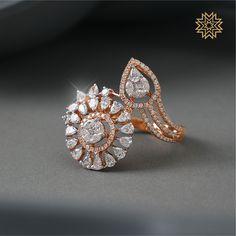Designer diamond jewellery - Exotic Diamond Jewellery Designs Of This Season! Gold Rings Jewelry, Diamond Jewelry, Jewellery, Wedding Jewelry, Wedding Hair, Bridal Hair, Manubhai Jewellers, Unique Diamond Rings, Bridal Ring Sets