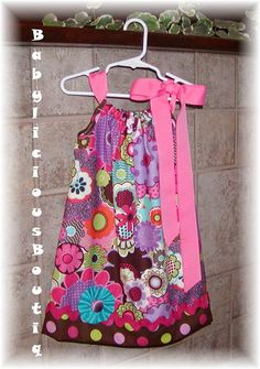 Girls dress pillowcase Infant toddler by BabyLiciousBoutiqu, $19.99--For Amelia