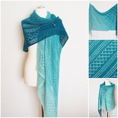 Leonora knitting pattern // wrap // bias