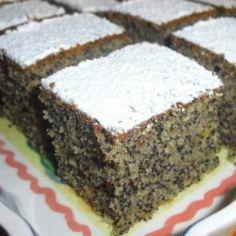 Mákos csoda | Nosalty Hungarian Desserts, Hungarian Cake, Hungarian Recipes, Sweet Desserts, No Bake Desserts, Sweet Cakes, Homemade Cakes, Desert Recipes, Cakes And More