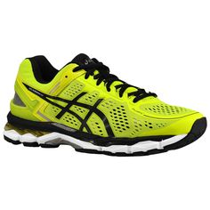 Asics GEL Kayano 22 Mens Running Shoes Flash Yellow - http://www.soleracks.com/product/asics-gel-kayano-22-mens-running-shoes-flash-yellow/