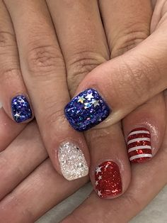 of July Patriotic Gel Nails Light Elegance Justice, After Midnight, Red & white buttercream, Big Diamond, Little Red Sled Gel Nail Light, Patriotic Nails, Light Elegance, Christmas Wine Bottles, 4th Of July Nails, Polish Models, Nail Patterns, Body Hacks, Dream Nails
